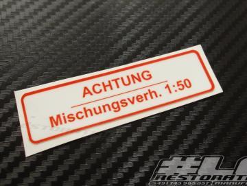 Gemisch Aufkleber Deutsch